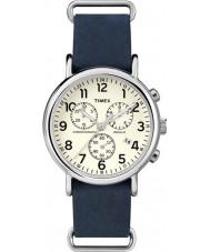 Timex TW2P62100 Weekender Blue Strap Chronograph Watch