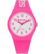 Superdry SYG164PW Urban Neon Pink Silicone Strap Watch