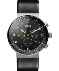 Braun BN0095SLG Mens Prestige Black Chronograph Watch