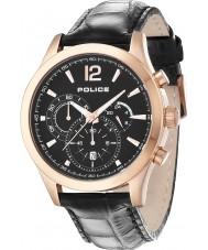 Police 12757JSR-02 Mens Ohio Black Leather Strap Watch