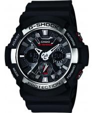 Casio GA-200-1AER Mens G-Shock World Time Black Chronograph Watch