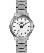 Rotary LB02836-07 Ladies Timepieces Stone Set Steel Watch