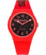 Superdry Urban Red Silicone Strap Watch