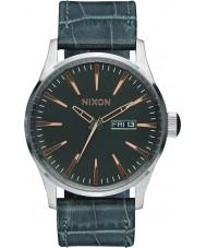 Nixon A105-2145 Mens Sentry Grey Gator Leather Watch