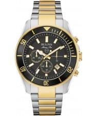 Bulova 98B249 Mens Marine Star Two Tone Chronograph Watch