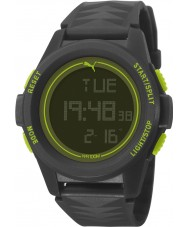 Puma PU911161001 Vertical Black Silicone Strap Chronograph Watch