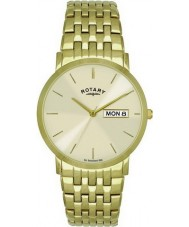Rotary GB02624-03-DD Mens Champagne Gold Plated Watch
