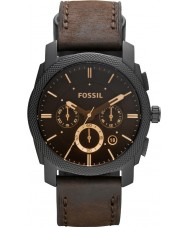 Fossil FS4656 Mens Machine Brown Leather Chronograph Watch