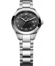 Maurice Lacroix MI1014-SS002-350 Ladies Miros Black and Steel Watch