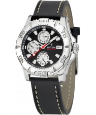 Festina F16243-6 Mens Multifunction Leather Strap Watch