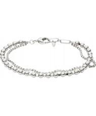 Fossil JA6775040 Ladies Fashion Silver Brass Beaded Bracelet
