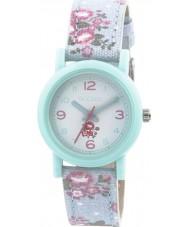 Tikkers TK0104 Girls Floral Blue Watch