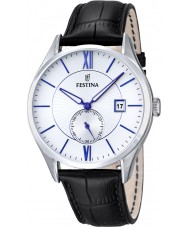 Festina F16872-1 Mens Classic Black Leather Strap Watch