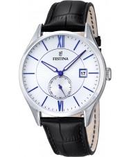 Festina F16872-1 Mens Classic Black Leather Strap Watch