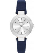 DKNY NY2412 Ladies Stanhope Navy Leather Strap Watch