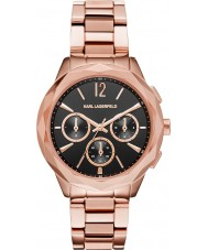 Karl Lagerfeld KL4012 Ladies Optik Rose Gold Plated Chronograph Watch