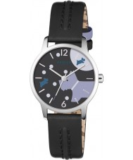 Radley RY2405 Ladies Over The Moon Black Leather Strap Watch