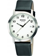 Boccia B3544-01 Mens Titanium White Black Watch