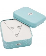 Fossil JF03083040 Ladies Earrings and Necklace Gift Set