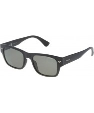 Police Mens Offstage 1 SPL150-U28P Semi Matt Black Polarized Sunglasses