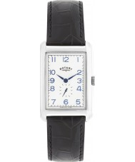 Rotary GS02697-21 Mens Timepieces Portland Silver Black Leather Strap Watch