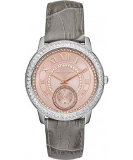 Michael Kors MK2446 Ladies Madelyn Grey Leather Strap Watch