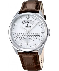 Festina F16873-1 Mens Classic Brown Leather Strap Watch