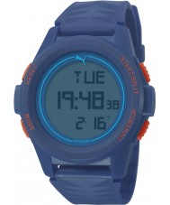 Puma PU911161003 Vertical Blue Silicone Strap Chronograph Watch