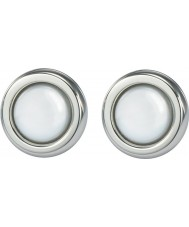 Skagen JESW020 Ladies White Pearl Steel Earrings