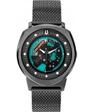 Bulova 98A136 Mens BA II Black Steel Bracelet Watch