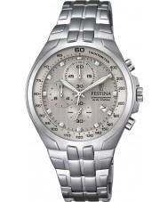 Festina F6843-2 Mens Chronograph Silver Steel Chronograph Watch