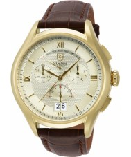 S Coifman SC0323 Mens Brown Leather Chronograph Watch