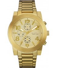 Caravelle New York 44A105 Mens Sport Gold Steel Chronograph Watch