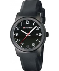 Wenger 01-0441-151 Mens Field Color Black Silicone Strap Watch