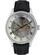 Rotary GS02518-06 Mens Timepieces Steel Black Skeleton Automatic Watch