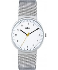 Braun BN0031WHSLMHL Ladies Silver White Watch