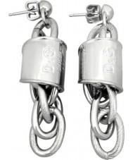 D and G DJ0977 Ladies Stainless Steel Lover Earrings