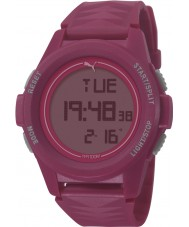 Puma PU911161004 Vertical Pink Silicone Strap Chronograph Watch