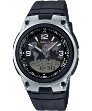 Casio AW-80-1A2VES Mens Collection world time Black combi Watch
