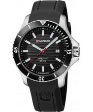 Wenger 01-0641-117 Mens Seaforce Black Silicone Strap Watch