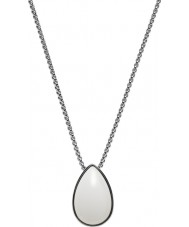 Skagen SKJ0669040 Ladies Sea Glass Silver Steel Necklace with White Stone