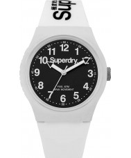 Superdry SYG164W Urban White Silicone Strap Watch