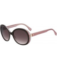 Fendi Micrologo FF 0001-S 7PH K8 Brown Burgundy Sunglasses