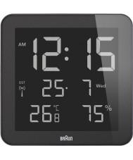 Braun BNC014BK-RC Global Radio Controlled Wall Clock - Black