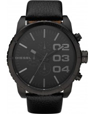 Diesel DZ4216 Mens Double Down Brushed Black Chronograph Watch
