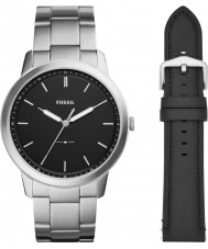 Fossil FS5451SET Mens Minimalist Watch Gift Set