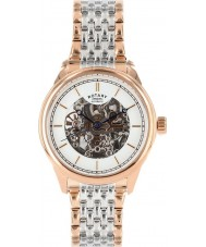 Rotary GB00161-02 Mens Timepieces Two Tone Steel Skeleton Automatic Watch