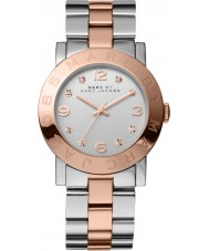 Marc Jacobs MBM3194 Ladies Amy Silver Rose Gold Watch