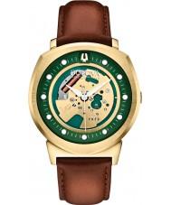 Bulova 97A110 Mens BA II Brown Leather Strap Watch
