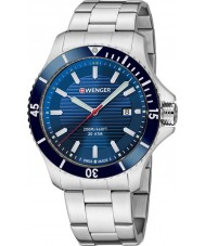 Wenger 01-0641-120 Mens Seaforce Silver Steel Bracelet Watch